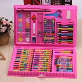 儿童绘画文具套装水彩笔86件套小学美术铅笔蜡笔组合