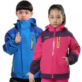 户外儿童冲锋衣男女童登山服滑雪服防寒服外套秋冬季