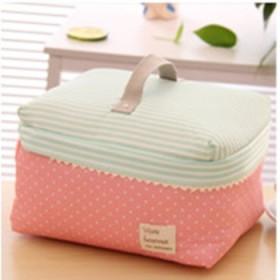 大容量韩国可爱小化妆包防水帆布手提大旅行包便当包