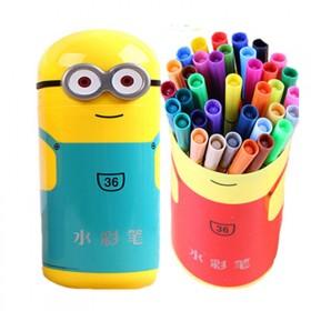 12色小黄人水彩笔套装儿童绘画涂鸦彩笔宝宝画笔