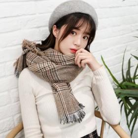围巾女秋冬季韩版百搭经典格纹披肩文艺学生冬天围脖