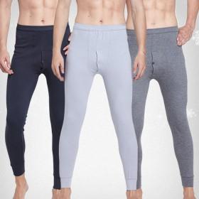 男士秋裤单件爆款纯棉弹力薄款纯色基础款保暖裤