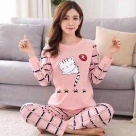 长袖睡衣俩件套卡通休闲韩版甜美可爱可外穿家居服套装