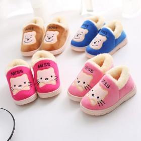 儿童棉鞋宝宝棉鞋家居保暖鞋软底包跟棉拖鞋女