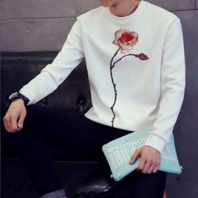 男装长袖T恤秋冬圆领衣服学生大码打底衫日系上衣韩版