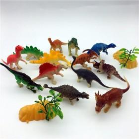 14只中号侏罗纪仿真塑胶恐龙模型儿童玩具袋装系列