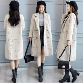 韩版时尚宽松百搭气质毛呢外套