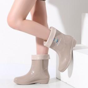 雨鞋高筒雨靴女士中长筒水靴水鞋加绒防滑防水