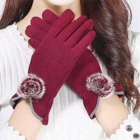 手套女秋冬季骑行开车触屏手套