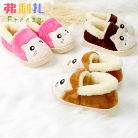 儿童棉鞋包跟保暖防滑棉拖鞋男女童毛绒室内居家拖鞋冬