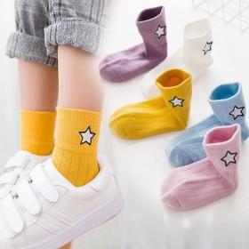【5双装】秋冬儿童袜子男童女童宝宝中大童中筒袜新款