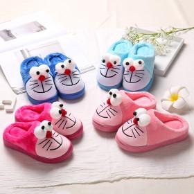 冬季可爱棉拖鞋女童男童小孩保暖棉鞋包跟厚底防滑儿童