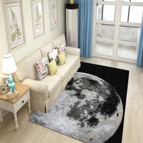 送精品圆垫 北欧简约床边地毯 卧室地毯 送除尘刷