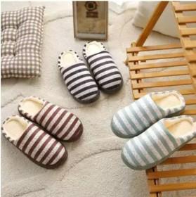 买一送一棉拖鞋女冬季室内家居家用厚底保暖情侣月子鞋