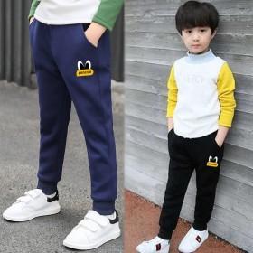 儿童加绒运动裤男童裤子