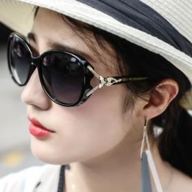 防紫外线圆脸女式墨镜眼睛网红偏光眼镜太阳镜女士