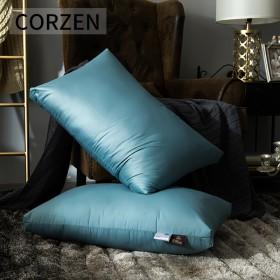 酒店羽绒枕头枕芯鹅绒羽毛枕成人单双人护颈保健枕一对