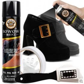鞋粉磨砂打理液翻毛皮鞋清洁护理鞋油黑色反绒皮绒