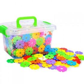 雪花片积木大号加厚200片儿童益智拼插拼装宝宝玩具