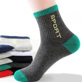 5双装 男士袜子男长筒袜防臭中筒袜运动商务