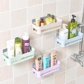 2个 壁挂式置物架免打孔无痕吸壁洗漱用品