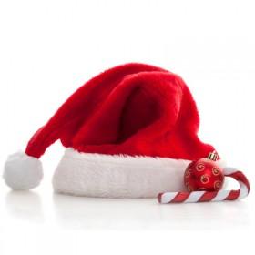 品牌成人毛绒圣诞帽