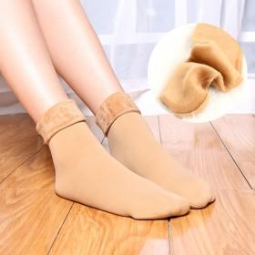【4双装】雪地袜男女冬款加绒加厚中筒女袜保暖袜地板