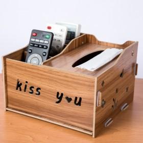 多功能纸巾盒抽纸盒桌面收纳盒创意客厅餐桌抽纸收纳盒