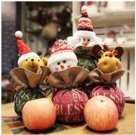 圣诞节礼品袋苹果糖果包装袋儿童圣诞礼物袋子平安果