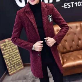 韩版时尚风衣外套男