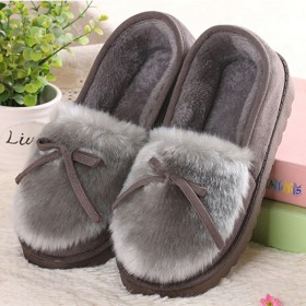 冬季棉鞋女布鞋韩版平跟软底毛毛鞋保暖加绒兔耳朵女棉