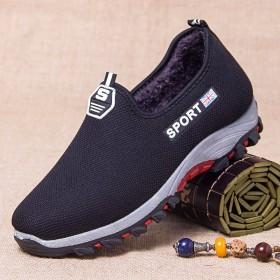 棉鞋男士老北京棉鞋男中老年男鞋加绒加厚冬季棉鞋防滑