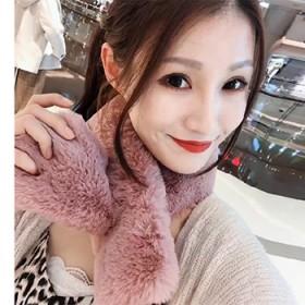 皮草围巾  獭兔毛围巾