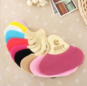 男女船袜硅胶防滑隐形袜魔术低邦浅口亲子袜糖果色短筒