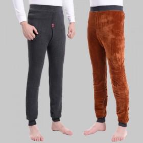 700g男士羊绒裤 羊毛裤双层加厚加绒棉裤保暖裤