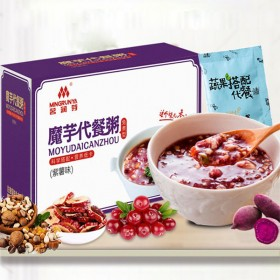 紫薯魔芋代餐粥饱腹低脂食品早晚餐低热量脱脂五谷杂粮
