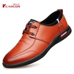 意尔康新款休闲鞋青年商务男鞋软底软面皮鞋