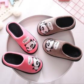 棉拖鞋女厚底包跟冬季居家居情侣保暖室内防滑月子