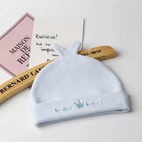 新生婴儿帽子秋冬幼儿男女宝宝帽0-3-6个月纯棉