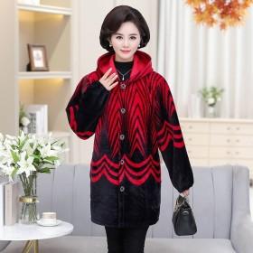 中老年女装秋冬装宽松大码防尘护衣中长款成人罩衣50