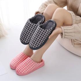 冬季家居情侣棉拖鞋女冬新款保暖厚居家室内防滑木地板