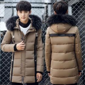 冬季羽绒服男中长款白鸭绒新款加厚保暖外套防寒