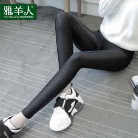 打底裤女外穿秋款弹力大码小脚裤子薄款高腰显瘦紧身