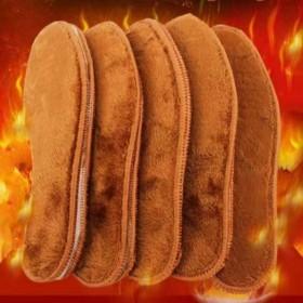 3双装通用羊驼绒加厚加绒鞋垫冬季保暖防臭透气鞋垫