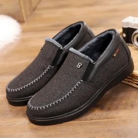 老北京布鞋男棉鞋低帮加绒爸爸鞋老人鞋