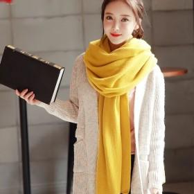【11.11零点开抢】围巾秋冬季男女韩国纯色仿羊绒