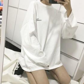 中长款女士长袖T恤