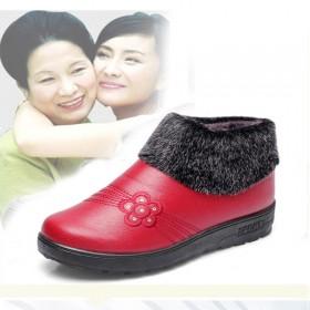新款保暖防滑PU女棉靴舒适透气时尚百搭