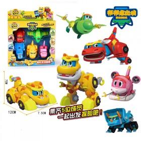 恐龙玩具变形4岁款5全霸王棒棒龙韦斯帮帮龙出动