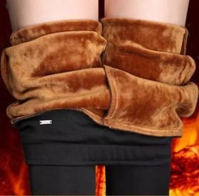 打底裤女外穿保暖Mm加绒加厚高腰弹力大码枪笔裤子潮